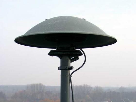 Sirene zur Ausgabe eines ABC-Alarms (Foto: Wikimedia Commons / Thomas Schulze)